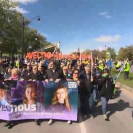 Public sector workers protest in Montreal
