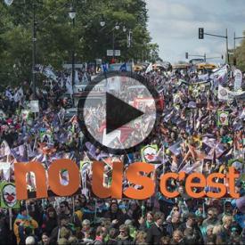 Les employés du secteur public prennent la rue pour faire avancer les négociations