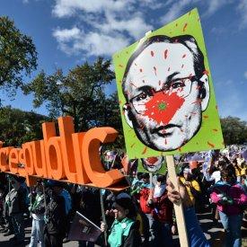 Manifestation à Montréal: front commun du secteur public
